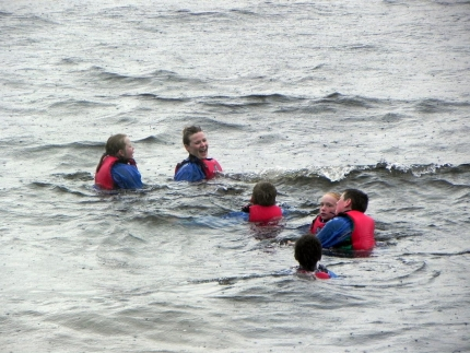 Portree Primary P7s enjoy it at Skye Sailing Club despite the rain