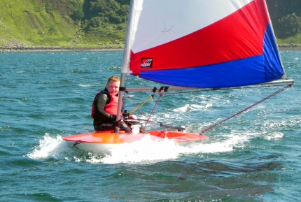 Blast reaching at Skye Sailing Club Summer School, Portree, Isle of Skye, Scotland