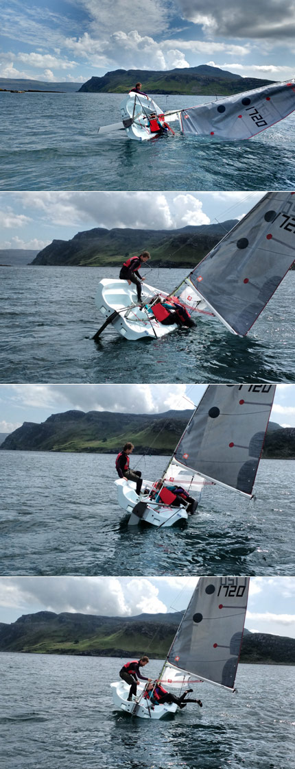 righting capsize fun skye sailing club