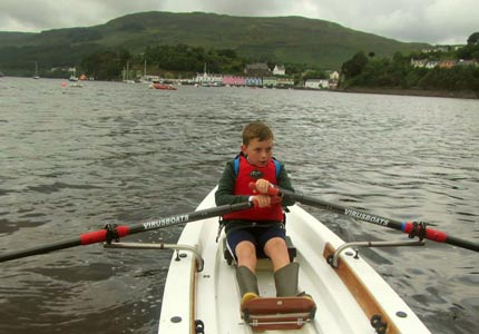 boy rowing skye sailing club
